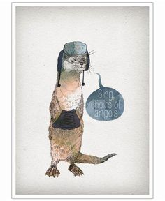Otter VON David Fleck now on JUNIQE!