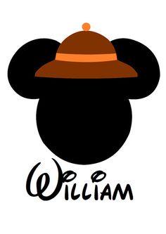 Custom Personalized Mickey Safari Hat Iron by AreWeThereYetDesigns, $5.00
