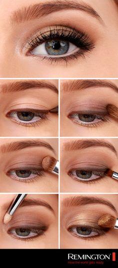 Golden Smokey Eye Make-up Tutorial! :-) Golden Smokey Eye Make-up Tutorial! Smokey Eyeshadow Tutorial, Eyeshadow Tutorial For Beginners, Eyeshadow Tutorials, Video Tutorials, Beauty Tutorials, Eyeshadow Step By Step, Natural Makeup Tutorials, Make Up Tutorials, Makeup Tutorial For Beginners