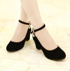 Feb 2020 - Online Shop Women Pumps Shoes High Heels Sexy New Fashion Square Heel 2018 Spring Autumn Flock Shallow Buckle Party Wedding Shoes Black Red Fancy Shoes, Pretty Shoes, Pump Shoes, Women's Pumps, Women's Shoes, Mid Heel Shoes, Court Shoes, Shoes Style, Platform Pumps