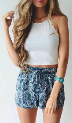 3347a555db romper + crop top ------- obsessed with flowy lace shorts