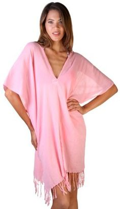 Comfortable crinkle cotton feels great and the cut is really sexy.  A perfect coverup for beach or pool as it looks great from lounging to bar or restaurant.