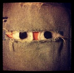 Monster patch for kids jeans