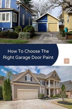 The look of your garage door can make a big impact on your property's curb appeal. Here are 4 popular garage door types and tips for choosing the right garage door paint color for each. Garage Door Colors, Garage Door Paint, Door Paint Colors, Garage Doors, Garage Renovation, Garage Remodel, Garage Makeover, Curb Appeal Porch, Door Types