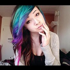 colorful hair-wish I had the confidence to do this!!! I. Want. This.