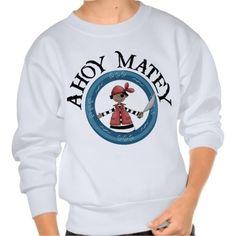 Ahoy Matey Patcheye Pirate Kids Sweatshirt