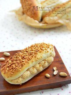 생크림으로 간단하게 만드는 땅콩크림빵 ♥ 땅콩크림빵 / 땅콩크림빵만드는법 / 땅콩크림만들기 / 노버터 /...