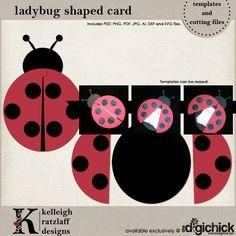 Ladybug party DIY invites