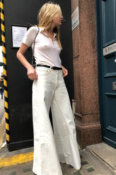 how to wear a polo wide leg pants