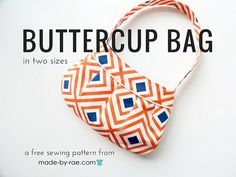 The beloved Buttercup Bag sewing pattern is now free in both sizes! To get your very own copy, please sign . Wallet Sewing Pattern, Bag Pattern Free, Tote Pattern, Handbag Patterns, Bag Patterns To Sew, Baguette, Free Printable Sewing Patterns, Printable Crafts, Kids Purse