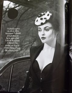 "gemmalard: "" Helena Bonham Carter by Mert Alas & Marcus Piggott for UK Vogue, July 2013 "" Helena Bonham Carter, Helena Carter, Helen Bonham, Tim Burton, Bellatrix Lestrange, Star Wars, Johnny Depp, Role Models, Gothic Beauty"