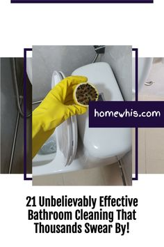 Maintaining a clean bathroom is an important routine that keeps the home smelling good and looking clean. Here are 21 bathroom cleaning hacks that will make cleaning your bathroom so much easier and with less sweat. Visit the blog post to see all 23 bathroom cleaning hacks to clean, disinfect and deodorize your bathroom. #homewhis #cleaninghacks #bathroomcleaning #cleaningtips #cleaning #cleanbathroom #smellhacks #bakingsodacleaning #cleaningschedule Bathroom Counter Organization, Fridge Organization, Bathroom Cleaning Hacks, Home Organization Hacks, Baking Soda Cleaning, Drill Brush, Dawn Dish Soap, Hard Water Stains, Dishwasher Detergent