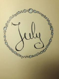 bullet journal front page: July