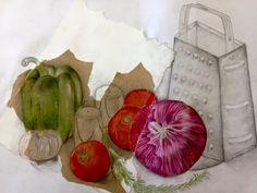 Vegetables, Drawings, Food, Meal, Essen, Vegetable Recipes, Sketch, Hoods, Portrait