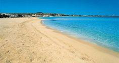 Beach of isola delle correnti near Siracusa Sicily