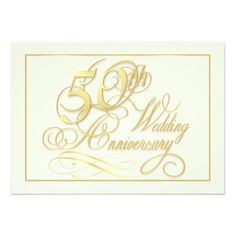 50th Wedding Anniversary Party Elegant 50th Anniversary Invitations - Inexpensive