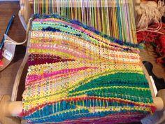 Saori in yellow, part 2 Weaving Textiles, Weaving Patterns, Tapestry Weaving, Inkle Loom, Loom Weaving, Hand Weaving, Textile Prints, Textile Art, Wilton