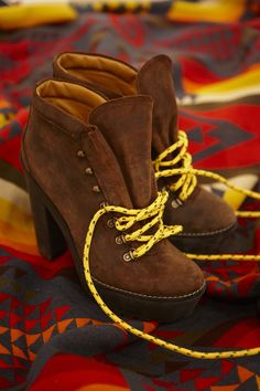 Ralph Lauren Hiker, country-living gets updated for city chic. This  platform suede bootie is expedition-inspired with bright multicolored laces d6cf4f561d6f