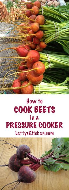 Easy basic recipe for pressure cooker beets. Healthy beets in 20 minutes!