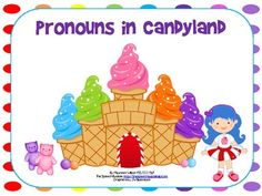 Pronouns in Candyland Speech Therapy Activities, Language Activities, Speech Language Pathology, Speech And Language, Teaching English Grammar, Grammar Skills, Language Development, Language Arts, Receptive Language