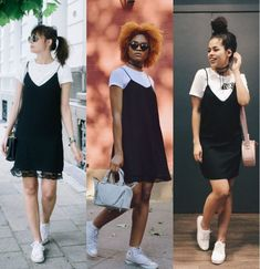 Cute Casual Outfits, Casual Chic, Stylish Outfits, Mode Outfits, Girl Outfits, Fashion Outfits, Look Fashion, Retro Fashion, Shirt Under Dress