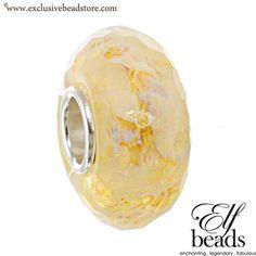 Elfbeads G140113 Sunny Tornado Fractal Glass Bead