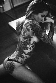 Beautiful back tattoo…