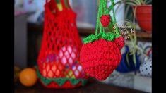 Filet Crochet, Net Bag, Filets, Crochet Crafts, Diy And Crafts, Stitch, Christmas Ornaments, Knitting, Holiday Decor