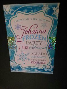 ☆Una fiesta congelada☆ invitaciones para sus peques tel 6562848314
