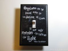 Harry Potter   Dumbledore Quote Jumbo Light Switch by DeeplyDapper, $9.00