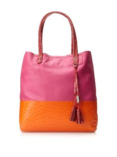 54% OFF Rafé Women\'s Suze Tall Tote (Pink/Orange)