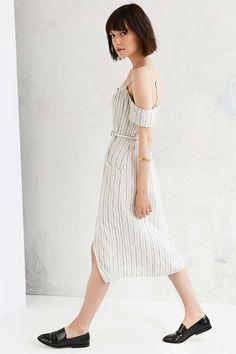 Cooperative Adele Off-The-Shoulder Striped Dress $89