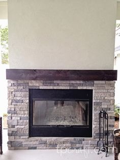 So yesterday I posted my before and after picture of my fireplace remodel. Here are a few more pictures of the step-by-step process from b...