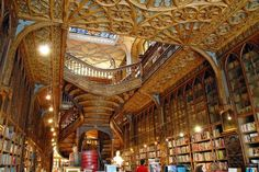 Lello Bookstore: The Most Beautiful Bookstore in the World - via Book Riot 26.08.2013 | Little did I know that when I went looking for the oldest bookstore in the world, I would find, just up the coast of the same country, what could very well be the most beautiful bookstore in the world. The Lello Bookstore was built in 1906 in Porto, Portugal by The Lello Brothers (Antonio and Jose) who formerly owned another bookstore a few streets away.