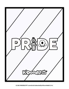 Every color is beautiful in it's own way! How many colors can you include in this Pride Month coloring sheet from #KidoodleTV? #Pride #PrideMonth #ColoringSheet #Rainbow Activity Sheets, Coloring Sheets, Some Fun, Fun Activities, Pride, Parenting, Rainbow, Printables, Tv