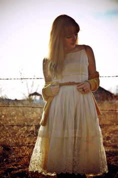 dress: vintage | cardigan: H&M | belt: Forever 21 | boots, ring: ModCloth     When you find the perfect vintage dress, and it fits you pe...
