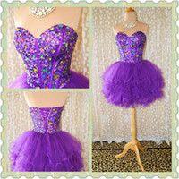 Purple and elegant