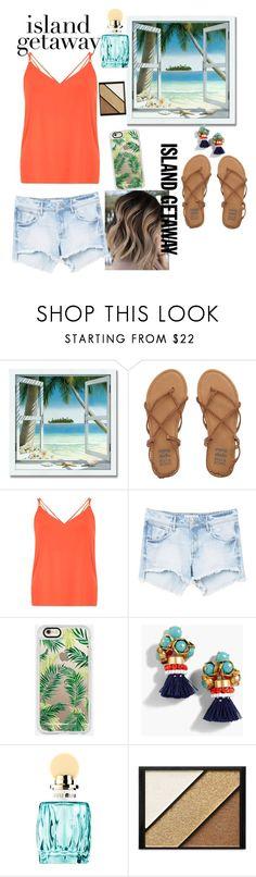 """Island Getaway Summer Style"" by sofia-gachuz ❤ liked on Polyvore featuring Billabong, Dorothy Perkins, MANGO, Casetify, J.Crew, Miu Miu and Elizabeth Arden"