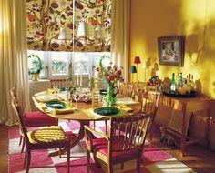 Yellow interior by Svenskt Tenn