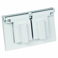 REDDOT 1-Gang Outdoor Weatherproof Cover for Horizontal Mount of Duplex Receptacle