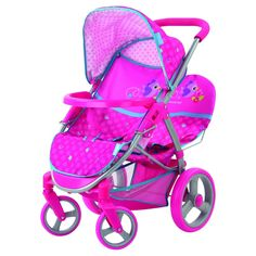 Hauck Malibu Duo Stroller - Birdie - The Malibu Duo Doll Stroller is the ultimate doll stroller for little parents with twins or two dolls that they can't part with. Baby Dolls For Kids, Baby Doll Toys, Bb Reborn, Reborn Babies, Target Dolls, Twin Strollers, Double Strollers, Baby Doll Nursery, Baby Alive Dolls