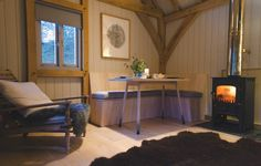 Tiny Cabin - Out Of The Valley - Devon - Living Area 2 - Humble Homes