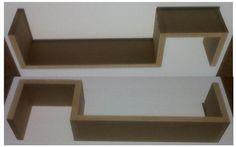 Repisa minimalista flotante mdf crudo p  pintar 18 mm oferta