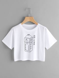 Short Sleeve T-Shirts. T-Shirts Designed with Round Neck. Regular fit. Cartoon design. Trend of Summer-2018. Designed in White. Fabric has some stretch.