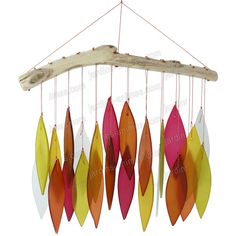 Glass wind chime - Lovely sunset colours. £15.00