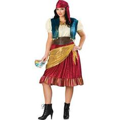 Gypsy Costume  Plus Size 2X  Dress Size 2022 -- Visit the image link more details.