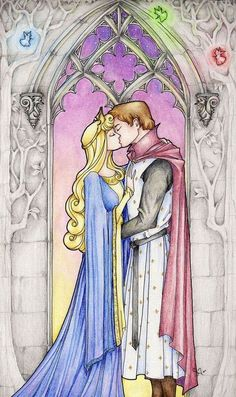 FACT: Norse myth and no kiss.The story of sleeping beauty is actually inspired by a 12th century Norse saga entitled Volsunga,  where a valkyrie named Brynhild upsets Odin, causing him to curse her  to a deep sleep. She would be placed on a couch on fire and would only  be woken up by the man who will rescue and marry her. She is rescued by  Siegfried, waking her up by cutting her armor.