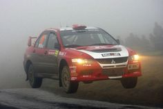 2007 Mitsubishi Lancer Evo IX on rally course
