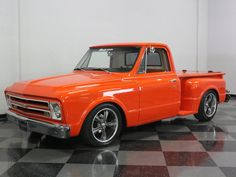 This 1967 Chevy pickup neatly blurs the line between street rod and pickup truck. 67 Chevy Truck, 1967 Chevy C10, C10 Trucks, Old Pickup Trucks, Classic Chevy Trucks, Hot Rod Trucks, Chevrolet Trucks, Chevy Stepside, Chevy Pickups