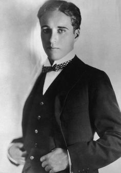 Charlie Chaplin without moustache...but with a polka dot bow tie